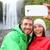 selfie couple taking smartphone picture waterfall stock photo © maridav
