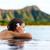 vakáció · nő · úszik · végtelen · medence · Hawaii - stock fotó © maridav