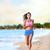 mulher · corredor · corrida · praia · costa · mulher · jovem - foto stock © Maridav