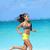активный · жизни · женщину · работает · босиком · пляж - Сток-фото © Maridav