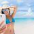 eğlence · kadın · fotoğraf · plaj · tatil - stok fotoğraf © maridav
