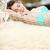 rahatlatıcı · genç · bayan · hamak · gün · batımı · su - stok fotoğraf © maridav