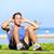 man exercising sit ups outside stock photo © maridav