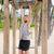 fitness man on monkey bars fitness station gym stock photo © maridav