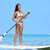 sup stand up paddle board woman paddleboarding stock photo © maridav