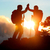 hiking people reaching summit top high five stock photo © maridav