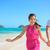tengerpart · pár · boldog · szórakozás · Hawaii · nászút - stock fotó © maridav