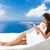 seyahat · tatil · kadın · rahatlatıcı · santorini · adası - stok fotoğraf © maridav