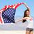 gioioso · donne · bandiera · americana · modello · Coppia · bellezza - foto d'archivio © maridav