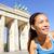 fut · nő · jogging · berlini · fal · Németország · női - stock fotó © maridav