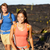 hiking people   couple walking on lava field stock photo © maridav