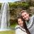 turistas · câmera · cachoeira · Islândia · romântico · casal - foto stock © maridav