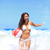 praia · mulher · jogar · bola - foto stock © Maridav