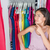 home closet clothing rack girl thinking of outfit stock photo © maridav