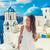 europe travel summer destination santorini tourist stock photo © maridav