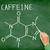 caffeine molecule blackboard stock photo © maridav