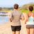jogging · lopen · paar · strand · achter - stockfoto © Maridav