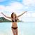 strand · leuk · vakantie · vrouw · zwemmen · spelen - stockfoto © maridav