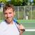 mannelijke · tennisspeler · jonge · wachten · bal · gezicht - stockfoto © maridav