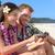 счастливым · Гавайи · пляж · пару · aloha · рубашку - Сток-фото © maridav