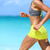 vrouwelijke · runner · strand · sport · beha · shorts - stockfoto © Maridav