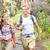 outdoor activity couple hiking   happy hikers stock photo © maridav