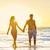 pár · sétál · tenger · tengerpart · férfi · homok - stock fotó © maridav
