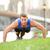 push ups   man training in new york city brooklyn stock photo © maridav