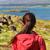 fiatal · trekking · emberek · élvezi · festői · tájkép - stock fotó © maridav