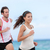 fitness interracial runner couple running on beach stock photo © maridav