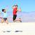 success   young runners jumping stock photo © maridav