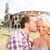 couple kissing in love in rome by the colosseum stock photo © maridav