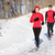 winter running exercise couple stock photo © maridav