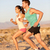 runners couple running in trail run outside stock photo © maridav