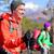 ハイカー · ハイキング · 山 · 冬 · 空 · 雪 - ストックフォト © maridav