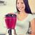 vrouw · drinken · bes · smoothie · restaurant · kleur - stockfoto © maridav