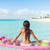 verão · mulher · relaxar · água · flutuante · colchão - foto stock © maridav