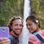 hawaii couple tourists taking travel phone selfie stock photo © maridav