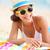 Beach travel woman smiling stock photo © Maridav