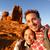 happy couple taking selfie self portrait hiking stock photo © maridav