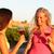 genç · arkadaşlar · içme · gül · şarap · yaz - stok fotoğraf © maridav