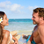 vacation couple relaxing on beach tanning stock photo © maridav