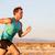 Running man sprinting cross country trail run stock photo © Maridav