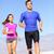mensen · lopen · runner · fitness · paar · woestijn - stockfoto © maridav