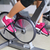 exercise bike with spinning wheels   woman biking stock photo © maridav