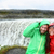 travel couple fun by dettifoss waterfall iceland stock photo © maridav