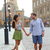 stockholm couple walking romantic by royal palace stock photo © maridav