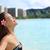 gelukkig · gratis · bikini · vrouw · genieten · strand - stockfoto © maridav