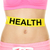 health warning on stomach body   diet concept stock photo © maridav