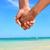 romântico · casal · caminhada · praia · tropical · mulher - foto stock © maridav